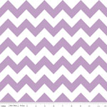 Chevrons Medium Lavender Fabric