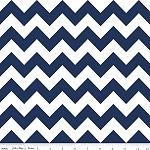 Chevrons Medium Navy Fabric