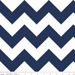 Chevrons Large Navy Fabric