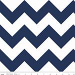 Chevrons Large Navy Fabric