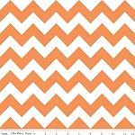 Chevrons Medium Orange Fabric