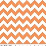 Chevrons Medium Orange Fabric