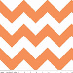 Chevrons Large Orange Fabric