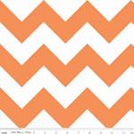 Chevrons Large Orange Fabric