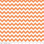 Chevrons Small Orange Fabric
