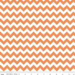 Chevrons Small Orange Fabric