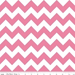 Chevrons Medium Hot Pink Fabric