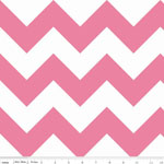 Chevrons Large Hot Pink Fabric
