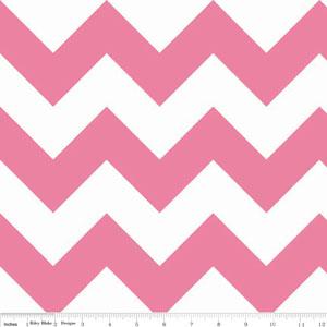 Chevrons Large Hot Pink Fabric
