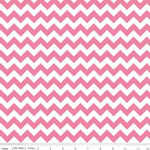 Chevrons Small Hot Pink Fabric