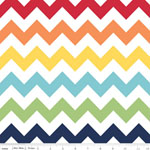 Chevrons Medium Rainbow Fabric