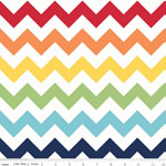Chevrons Large Rainbow Fabric