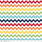 Chevrons Small Rainbow Fabric