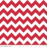 Chevrons Medium Red Fabric