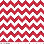 Chevrons Medium Red Fabric