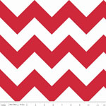 Chevrons Large Red Fabric