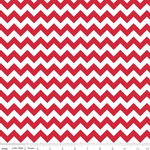 Chevrons Small Red Fabric