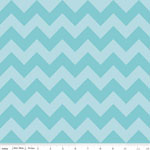 Chevrons Medium Aqua Tone Fabric
