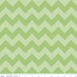 Chevrons Medium Green Tone Fabric
