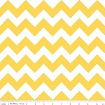 Chevrons Medium Yellow Fabric