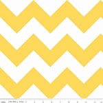 Chevrons Large Yellow Fabric