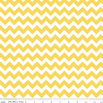 Chevrons Small Yellow Fabric