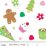 Christmas Candy Pattern Fabric