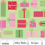 Christmas Gifts Presents Pattern Fabric