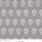 Geekly Chic Cottons Skulls in Grey Fabric