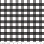 Gingham Large Black Fabric
