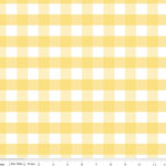 Gingham Large Yellow Fabric