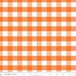 Gingham Gingham Large Orange Fabric