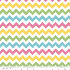 Knit Small Chevrons Girl Multi-Colored Fabric