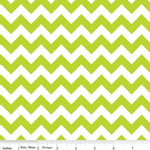 Jersey Knit Small Chevrons Lime