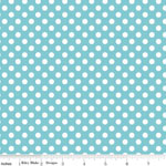 Knit Small Dot Aqua Fabric