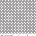 Knit Small Dot Grey Fabric