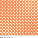 Knit Small Dot Orange Fabric