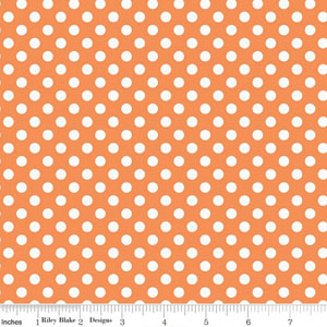 Knit Small Dot Orange Fabric