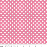 Knit Small Dot Pink Fabric