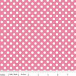 Knit Small Dot Pink Fabric
