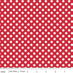 Knit Small Dot Red Fabric