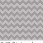 Knit Small Chevrons Gray Tone on Tone