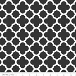 Knit Quatrefoil Black Fabric