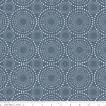 Knit Granite Circle Design Gray Fabric