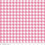 Knit Houndstooth Pink Fabric