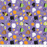 Knit Ghouls & Goodies Halloween Fabric Purple