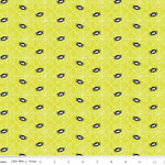 Knit Ghouls & Goodies Halloween Spiders Fabric Lime