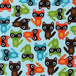 Woodland Pals Raccoon Bermuda Fabric