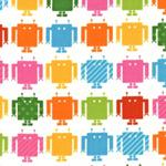 Funbots Muti Color Robots White