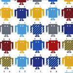 Funbots Muti Color Robots Primary Fabric